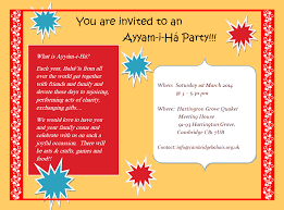 Invitation Card For Get Together Ayyam I Ha Celebration U2013 Bahá U0027ís Of Cambridge