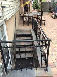 custom residential metal handrail stairs railings smw
