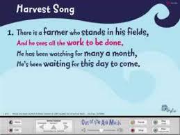 harvest song words on screen original