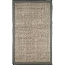 Polypropylene Sisal Rugs Amazon Com Sisal Gray Border Rug Rug Size 3 U0027 X 4 U00277