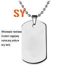 name tag necklace aliexpress buy wholesale metal army id dog tags