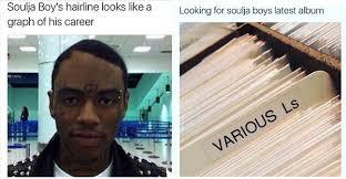 Receding Hairline Meme - pics chris brown s soulja boy instagram memes see him diss his