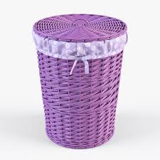 purple laundry basket giggle dots color pop solid purple canvas