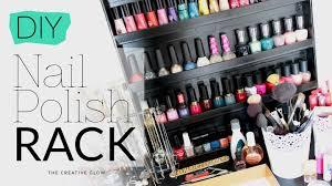 diy nail polish rack no power tools needed youtube