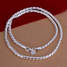 silver necklace chains wholesale images Wholesale new fashion 925 silver beautiful necklaces men 39 s twisted jpg