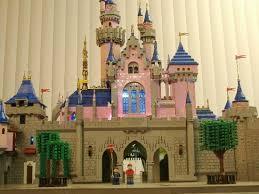 beautiful lego replica sleeping beauty castle disneyland