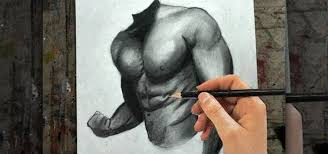 how to draw the male upper body torso chest and arms drawing