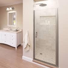 Swing Shower Doors Infinity Semi Frameless 1 4 Inch Glass Swing Basco Shower Doors