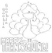 happy thanksgiving in ascii text ascii and computer
