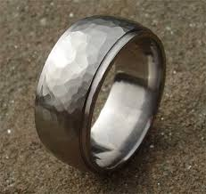 mens hammered wedding bands titanium hammered wedding ring love2have in the uk