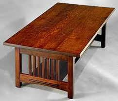 arts and crafts table for mission arts crafts coffee tables by dryad studios