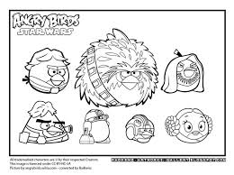 coloring pages angry birds star wars funycoloring