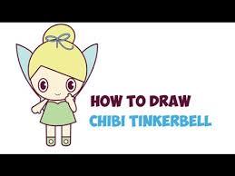 draw tinkerbell chibi kawaii baby disney u0027s peter