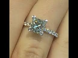 princess cut engagement ring 2 00 carat princess cut engagement ring