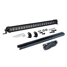 20 single row led light bar amazon com single row led light bar offroadtown 20 inch 16 000