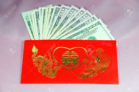 lucky envelopes ang pao a envelope with words and lucky sign contains