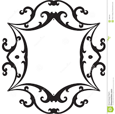 fancy frame clip art black and white clipart panda free