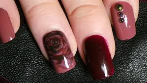 elegant marsala rose nail art tutorial color of the year youtube