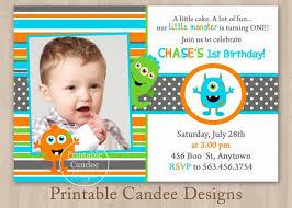 birthday invites chic little monster birthday invitations ideas