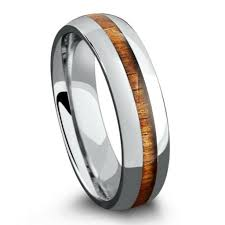 mens wooden wedding bands titanium koa wood ring 6mm northernroyal