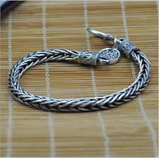 silver rope chain bracelet images Men 39 s silver bracelet 925 sterling silver vintage silver rope jpg