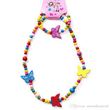 colored bead necklace images New children 39 kids accessories colorful beads necklaces princess jpg