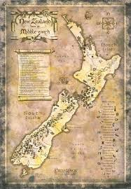 map from lord of the rings map of lord of the rings locations in new zealand the harp
