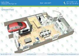 sqm to sqft ground floor 2 bedroom villa type d3 bua 176 11 sqm 1894 sqft