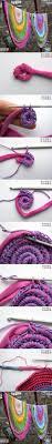 Crochet Tshirt Rug Pattern Diy Crochet Rug With Fabric Scraps Crochet Craft And Scrap Crochet