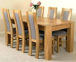 solid oak table with 6 chairs dining table and 6 chairs ebay stgrupp com