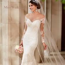 brautkleid ma geschneidert langarm spitze hochzeitskleid vintage style white ivory liebsten