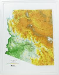 Usa Map By States by Hubbard Scientific Raised Relief Map Arizona State Usa Maps By