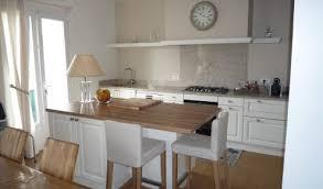 cuisine blanche plan de travail bois cuisine aménagée réalisations yssingeaux