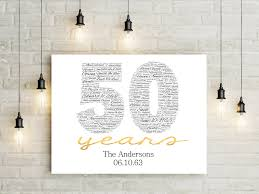 50th anniversary gift wedding gift 50th wedding anniversary gifts for and your