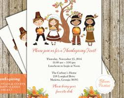 thanksgiving invitations etsy