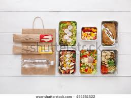 fruits delivery healthy food delivery take away diet stock photo 452037955