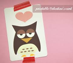 little design cafe cute owl card freebie for your valentine