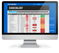 trade show checklist excel template on behance