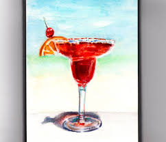 watercolor cocktail doodlewash world watercolor month day 22 the colors of summer