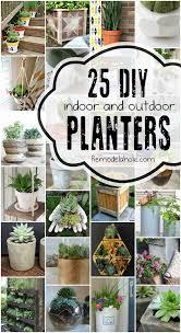 diy planters remodelaholic 25 diy planter tutorials
