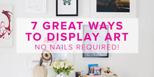 hang pictures without nails 7 great ways to display art no nails required huffpost