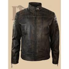 buy biker jacket buy men vintage distressed dark brown biker jacket