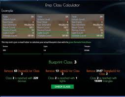 tool calculate your class size blueprint empyrion galactic everyone i re coded the emp class calculator a lot and updated to latest formula you have now an interactive output how to change your inputs for class