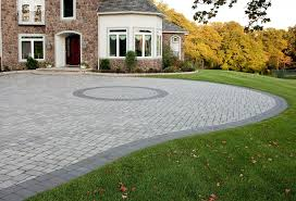 decor tips outdoor design with driveway pavers and concrete front