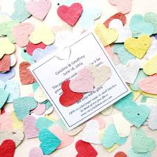 seed paper wedding favors 150 plantable flower seed paper confetti wedding favors package