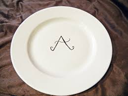 monogrammed plate make a monogrammed plate using a marker hgtv s decorating