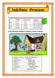 english teaching worksheets indefinite pronouns
