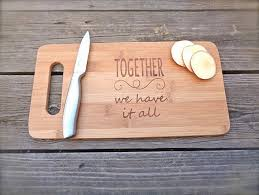 wedding cutting board personalized together wedding favors and gifts custom engraved