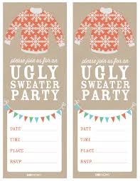 ugly sweater party ugliest christmas sweaters party invitations