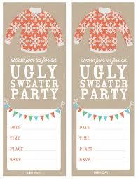 sweater ugliest sweaters invitations